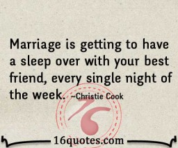 Marriage and friendship quote