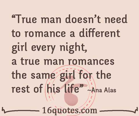 Night Romance Quotes True Man Romance Quote