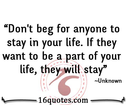 stay in your life quote
