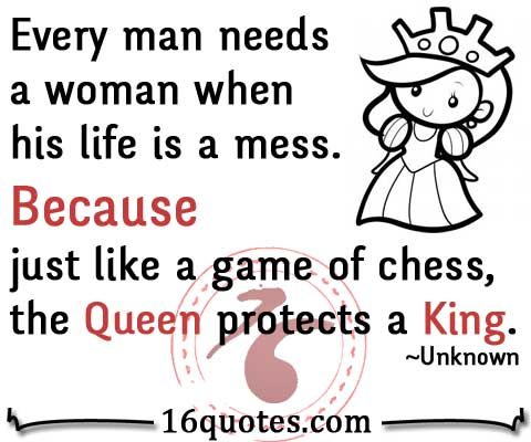 Queen protects a King quote