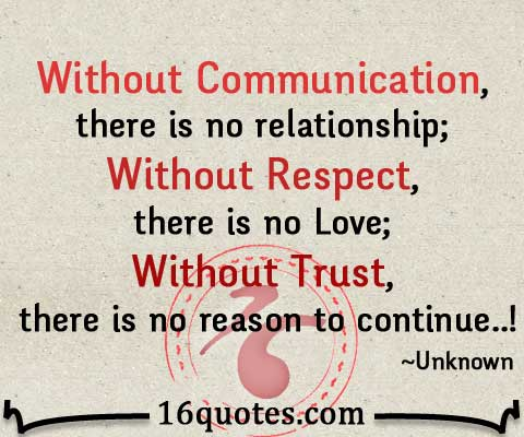 Without Communication There Is No Relationship Custom Trust Love Quotes For Relationships