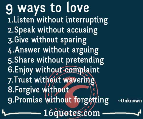 9 ways to love