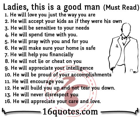 How To Know A Good Man