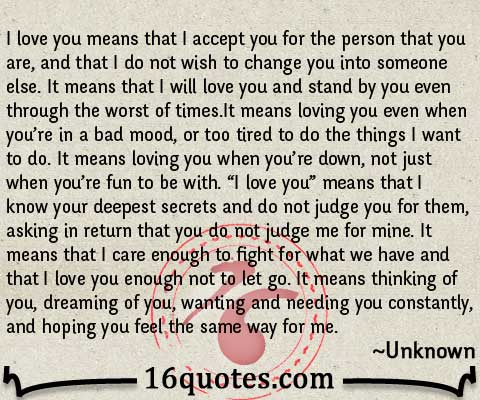 I Love You Means Quote