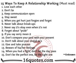 15 Ways To Keep A Relationship Working