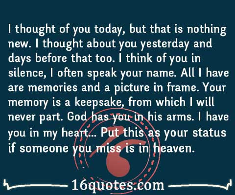 someone you miss is in heaven quote