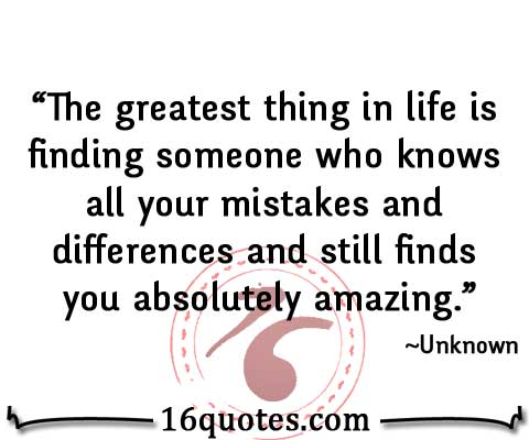 finding someone who knows all your mistakes quote
