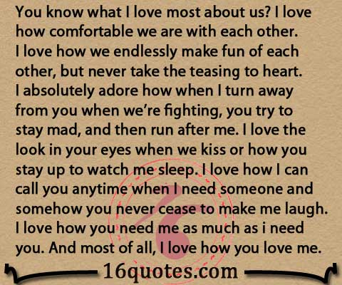 I Love Us Quotes Impressive You Know What I Love Most About Us