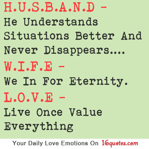 Wife Love Quotes : Pics Photos - Husband Wife Love Quotes Marriage Love Quotes