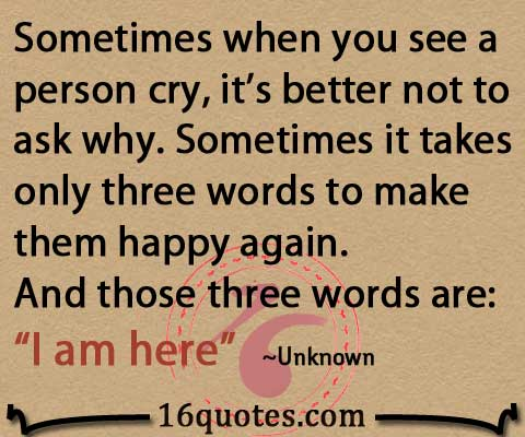 Quotes About Happy Person Gorgeous It Takes Only Three Words To Make A Person Happy  Caring Quote