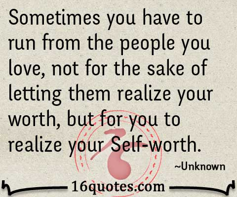 realize your Self-worth quotes