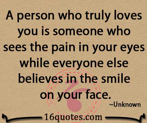 who sees the pain in your eyes quotes