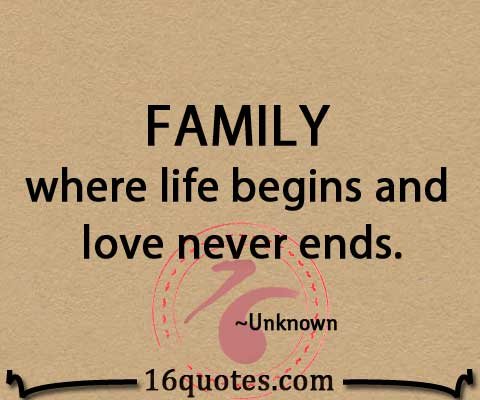 FAMILY where love never ends