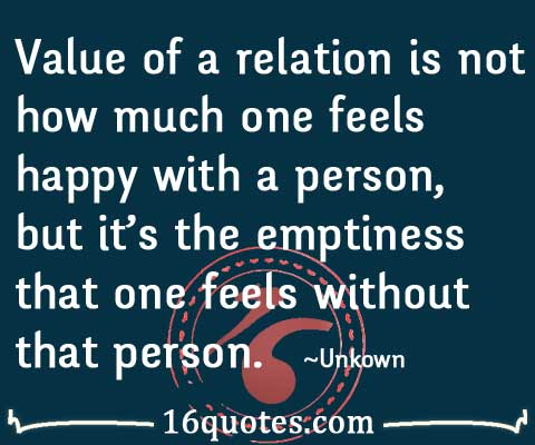 feel happy with a person