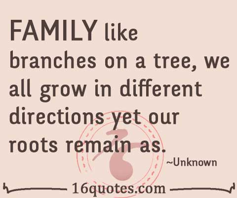family like branches on tree
