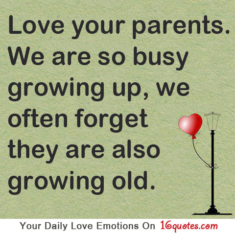 Parents Love Quotes : Old Parents Quotes. QuotesGram