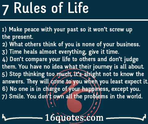60 Rules Of Life New 7 Rules Of Life Quote