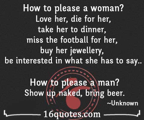 How to please a man quotes