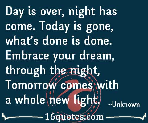 Tomorrow comes quotes