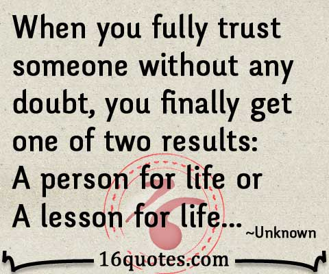 fully trust someone