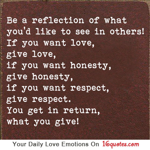 If you want respect, give respect. You get in return, what you give!