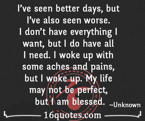 My life may not be perfect quote