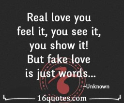 fake love is just words quote