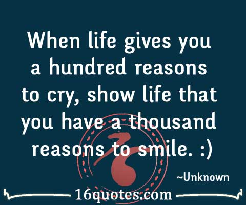 reasons to cry quote