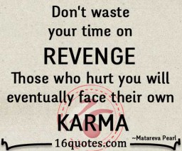 Don't waste your time on revenge quote