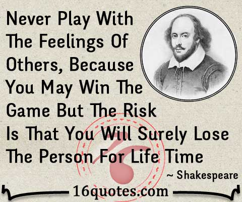shakespeare lose the person quote