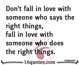 Don't fall in love with someone quote